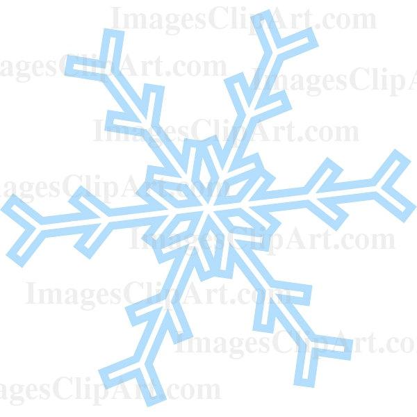 600x600 Transparent Snowflake Clipart