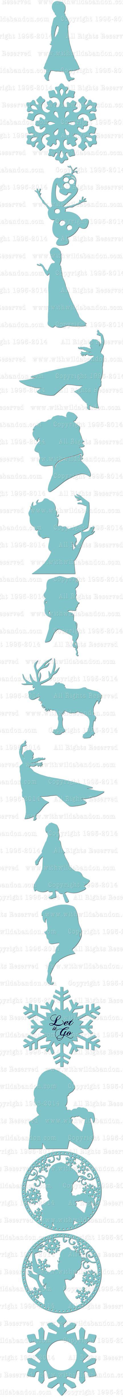 432x4909 Best Frozen Silhouette Ideas Princess