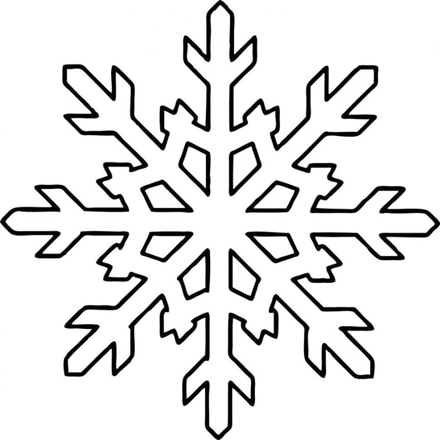 This is a picture of Légend Free Printable Snowflake Template
