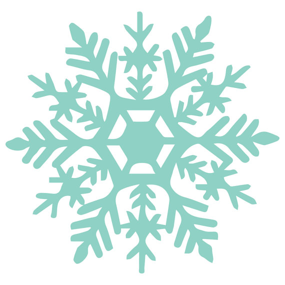 570x570 Snowflake Vinyl Decal Design 1 Frozen Party Decoration On Etsy