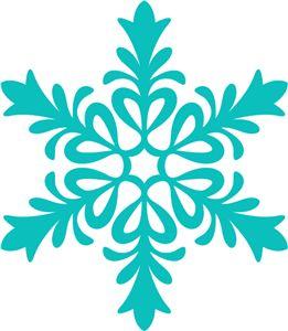261x300 Snowflakes Silhouette Clipart
