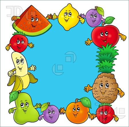 449x443 Fruit And Vegetable Borders Clip Art Clipart