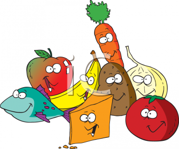 350x292 Fruit And Vegetables Clipart