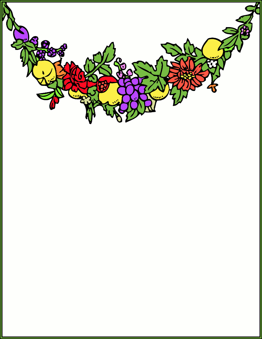 850x1100 Fruits And Vegetables Border Clipart Clipart Panda
