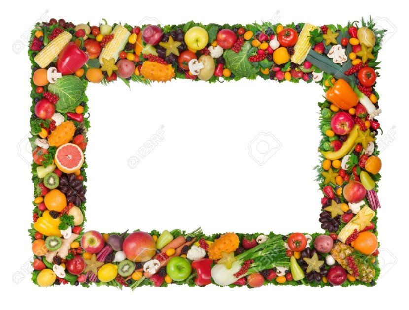 830x630 Fruits Amp Vegetables Clipart Border Design