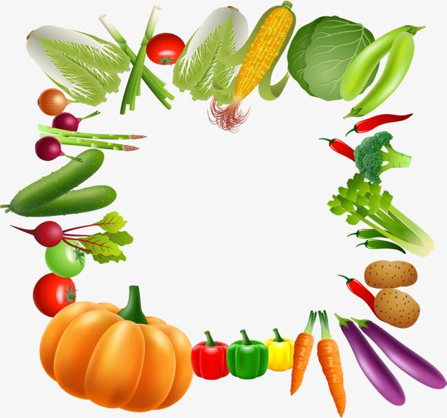 650x608 Vegetables Border, Vegetables, Frame, Fruits And Vegetables Png