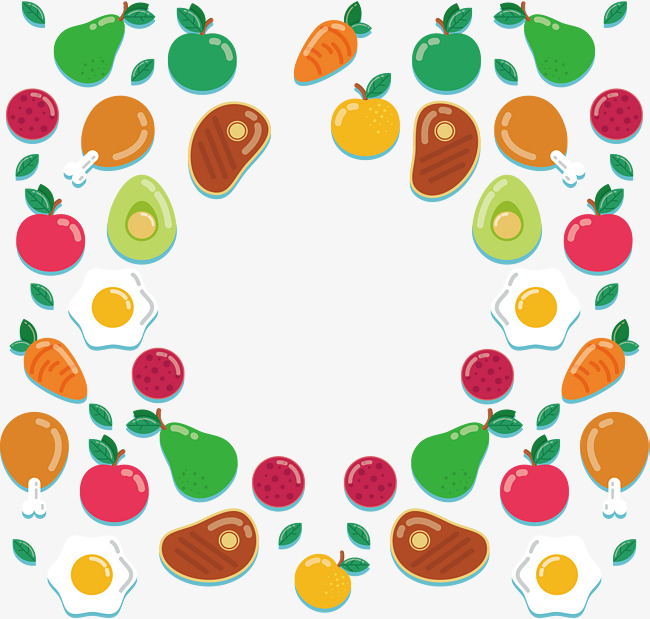 650x619 Delicious Fruit And Vegetable Pattern, Vector Png, Delicious Fruit