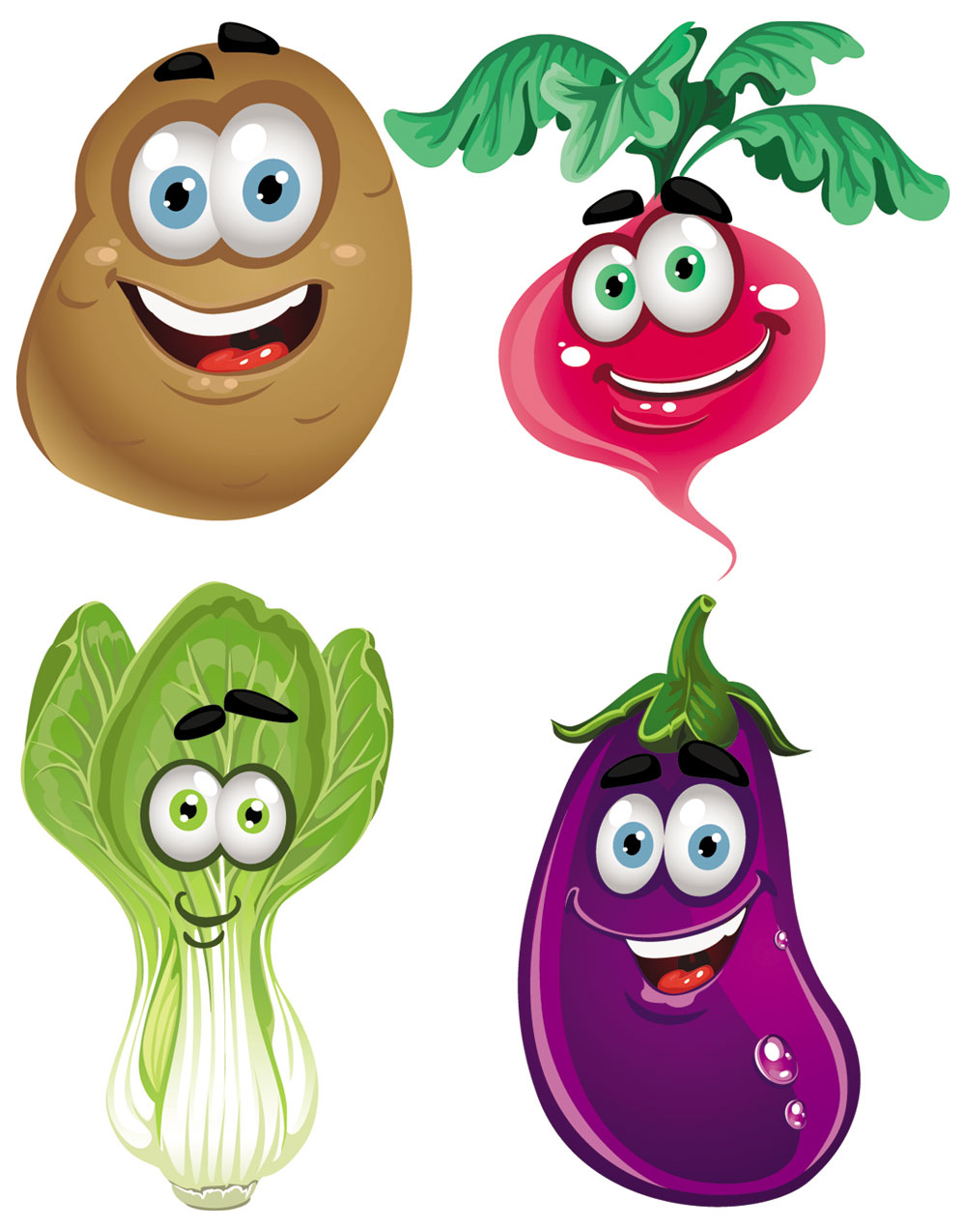 1000x1274 Cartoon Fruits And Vegetables Clipart