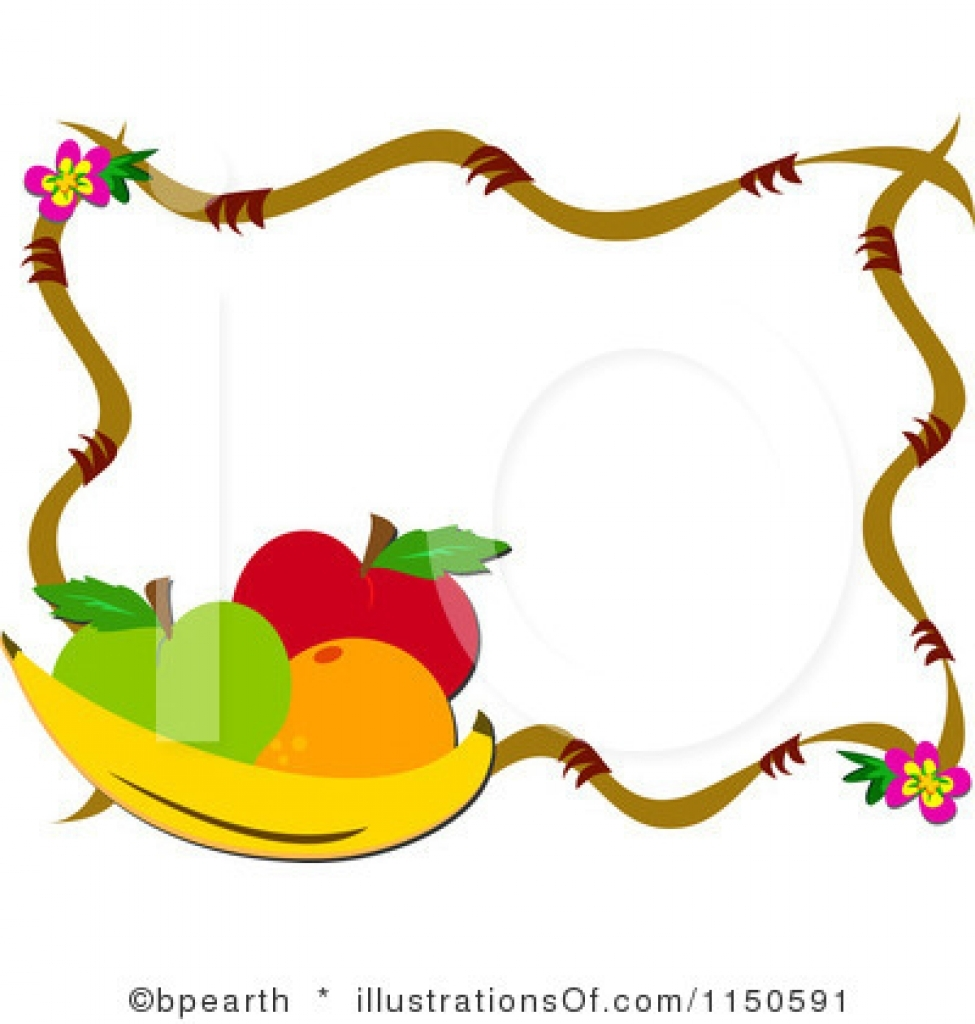 975x1024 Fruits And Vegetables Border Clipart Clipart Panda Free Regarding