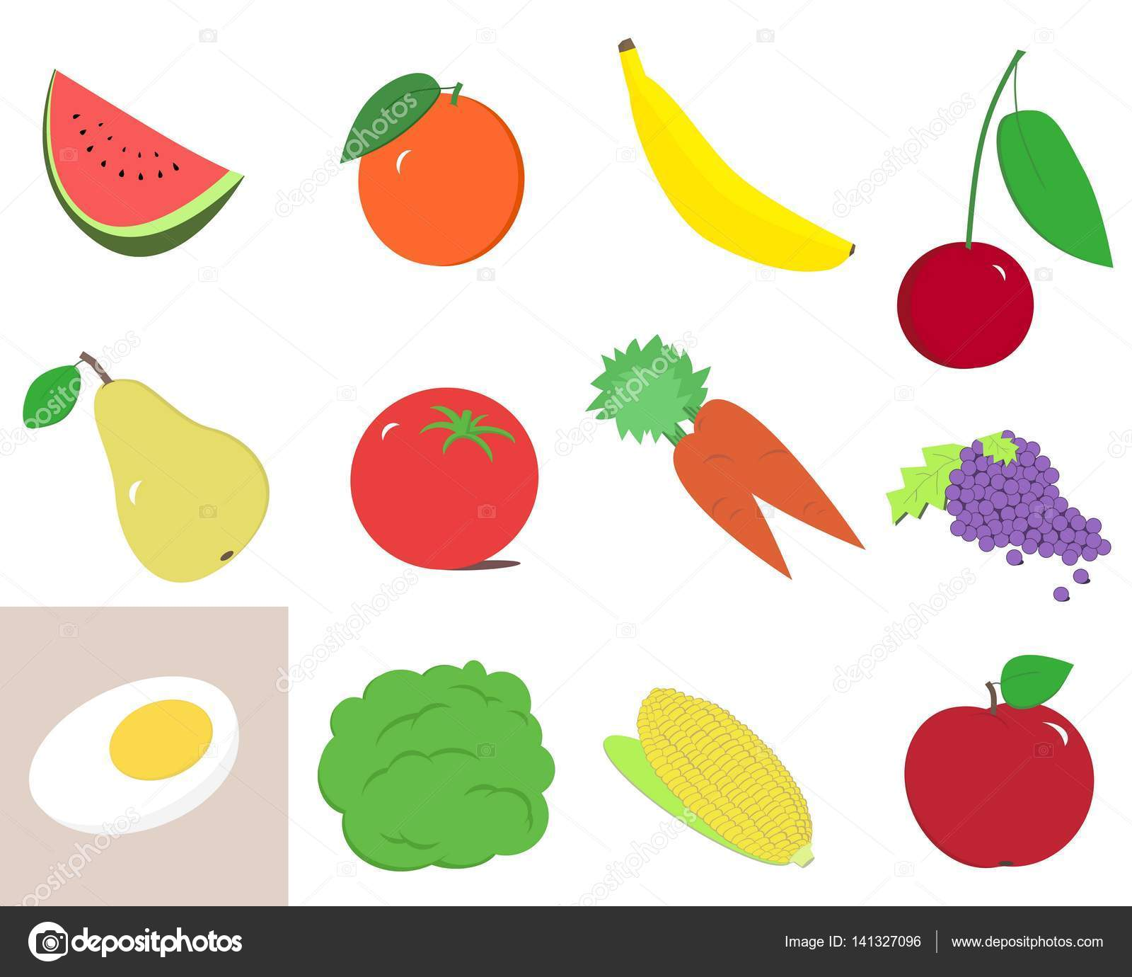 1600x1380 Fruits And Vegetables Clip Art Stock Photo Grafff