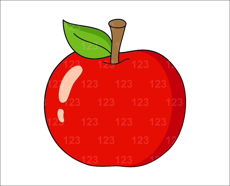 900x729 A Single Piece Of Fruit Clipart