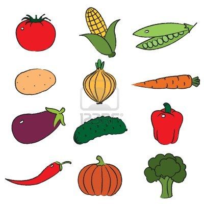 400x400 Fruits And Veggies Clipart