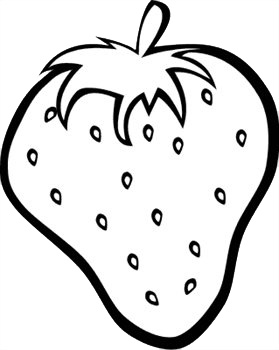 279x350 Vegetables Black And White Fruits Clipart 3