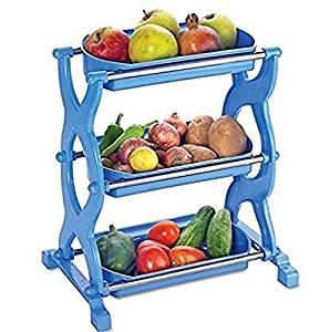 298x300 Buy Ritu 3 Layer Fruits Amp Vegetables Storage Basket Shelf Rack
