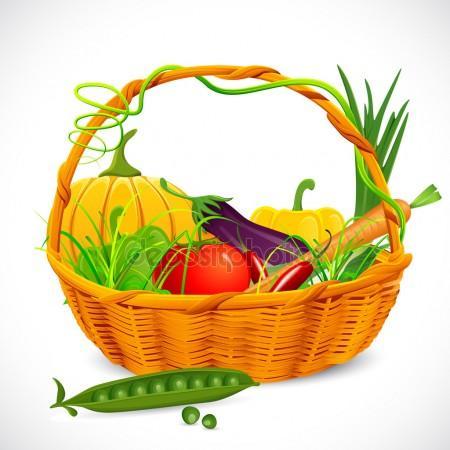 450x450 Fruit Basket Vector Stock Vectors, Royalty Free Fruit Basket