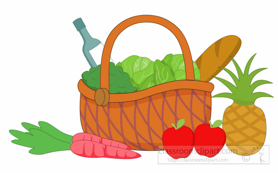 550x343 Grocery Clipart Clipart Basket Full Of Fruit Vegetables Grocery