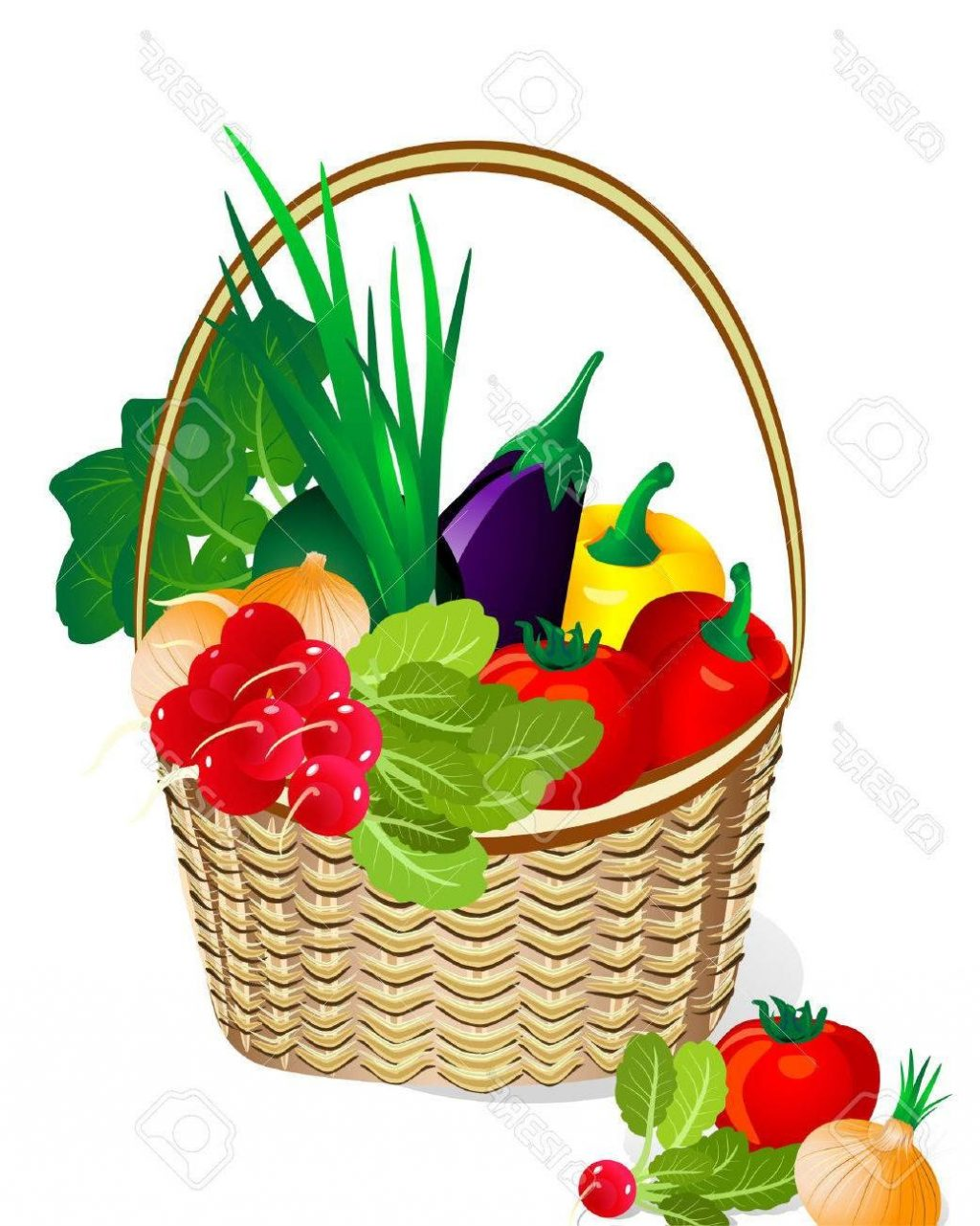 1024x1281 Top 10 Vegetables In The Basket Stock Vector Vegetable Fruit Library