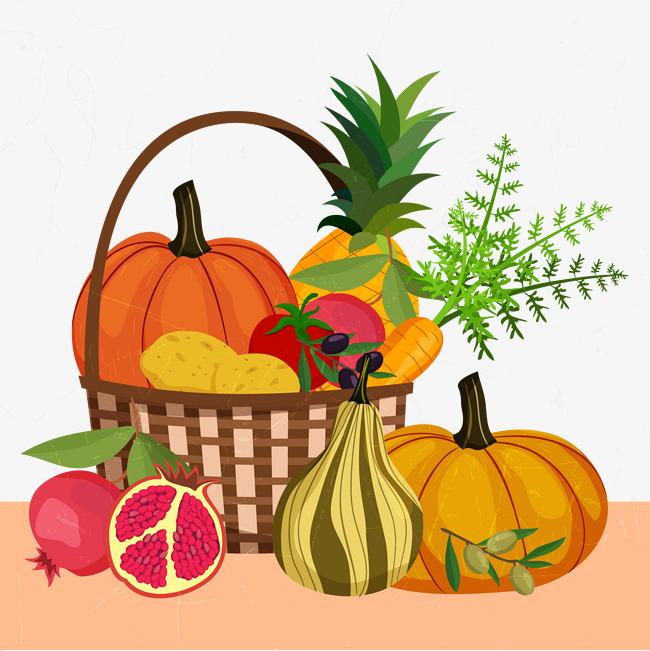 650x651 Vegetables, Fruit, Food, Vegetable Basket, Pumpkin, Fruits Png