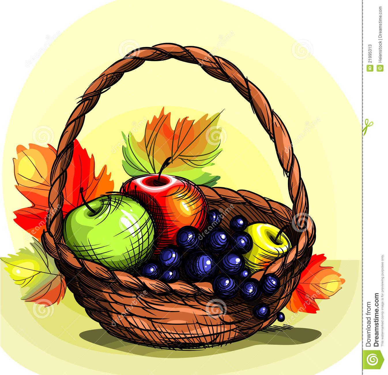 1346x1300 Basket Clipart Autumn Fruit