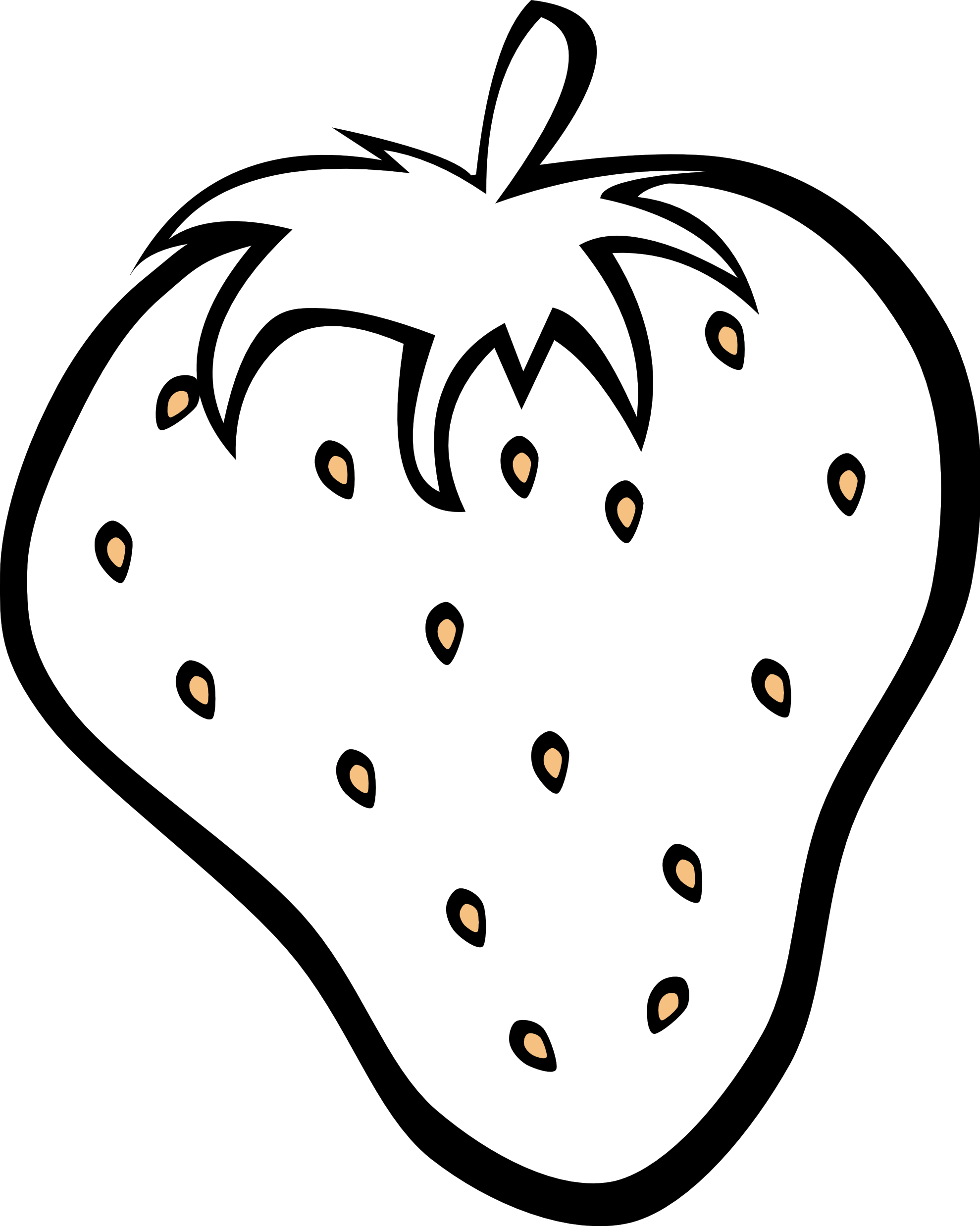 1979x2476 Black And White Fruit Clipart