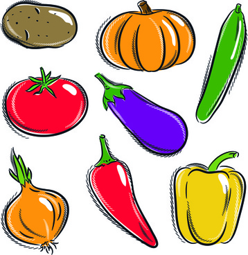 358x368 Children Drawing Vegetables Free Vector Download (90,658 Free