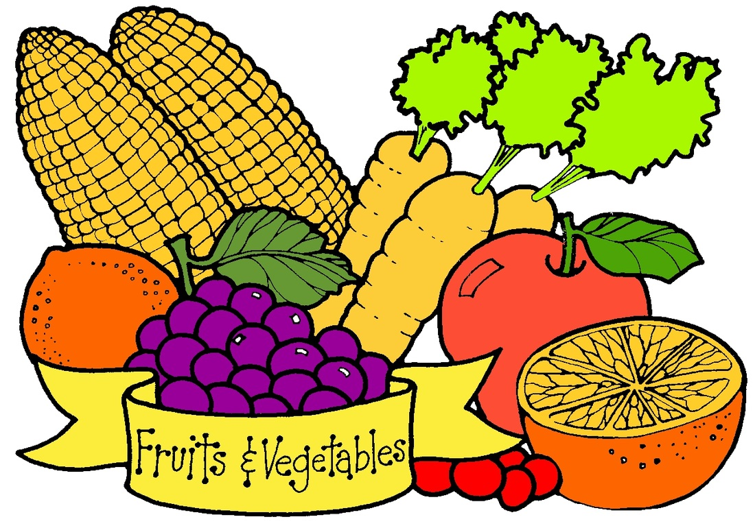 1100x770 Fruit And Vegetables Clipart