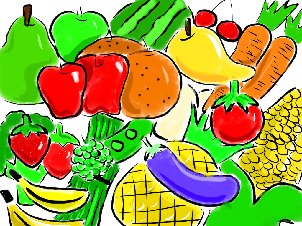 1024x768 Fruits Amp Vegetables Clipart Nutrition Month