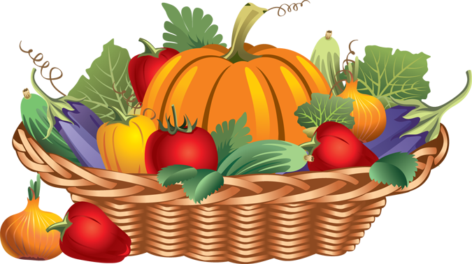675x378 Vegetables Clipart Basket Drawing
