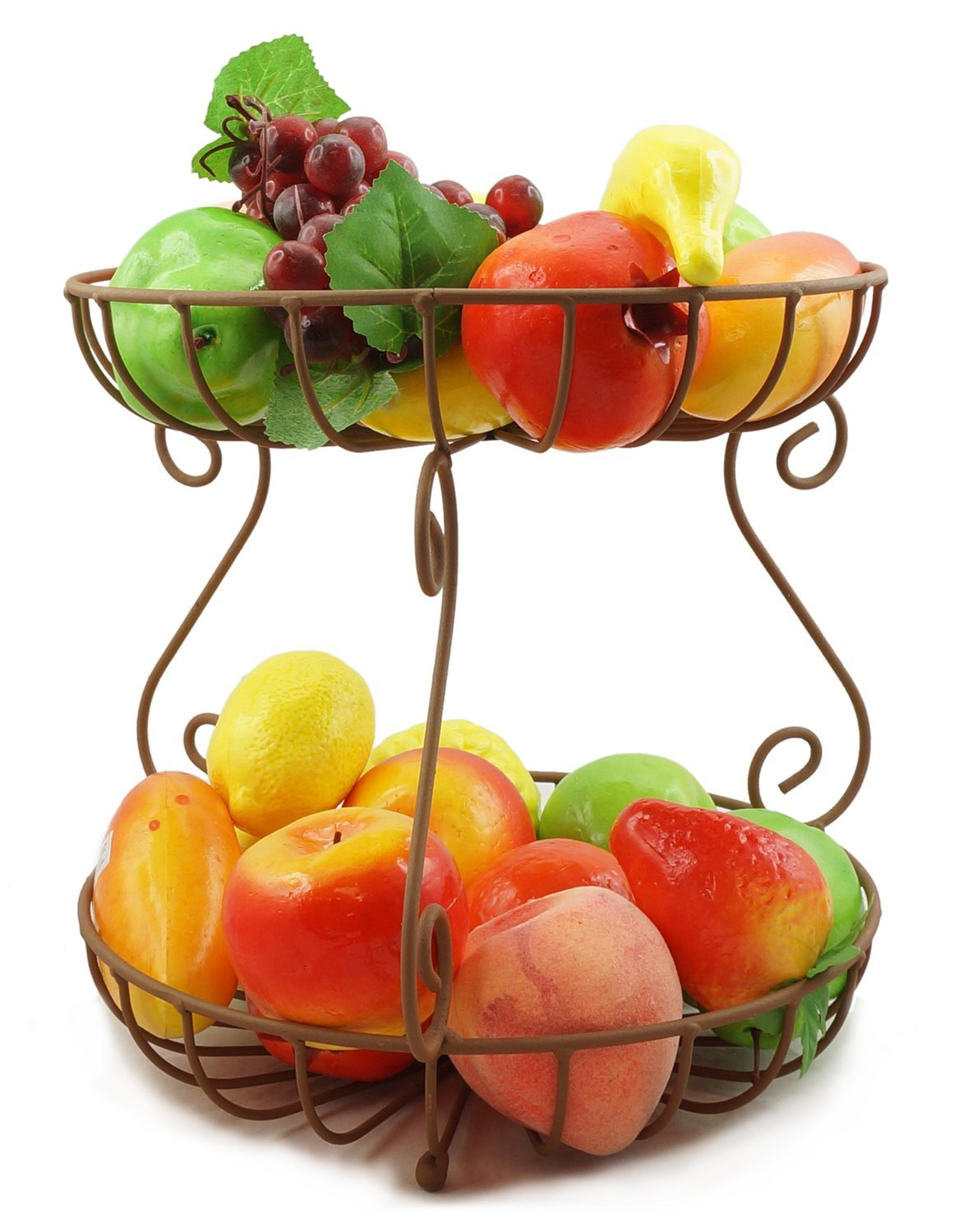 1167x1500 2 Tier Metal Fruit Basket Round Black Kitchen Amp Dining