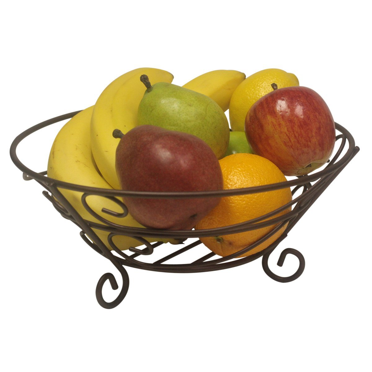 1200x1200 Home Basics Scroll Collection Fruit Basket Home Amp Kitchen
