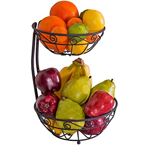 463x463 Zenware Steel Fruit Basket Stand Bowl Server