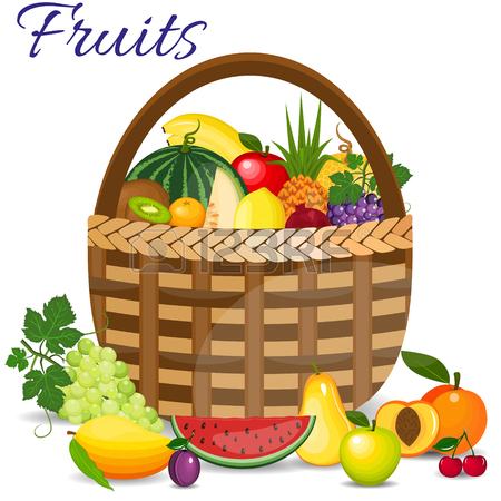 450x450 Healthy Fruits And Vegetarian Food Banners. Fresh Organic Food