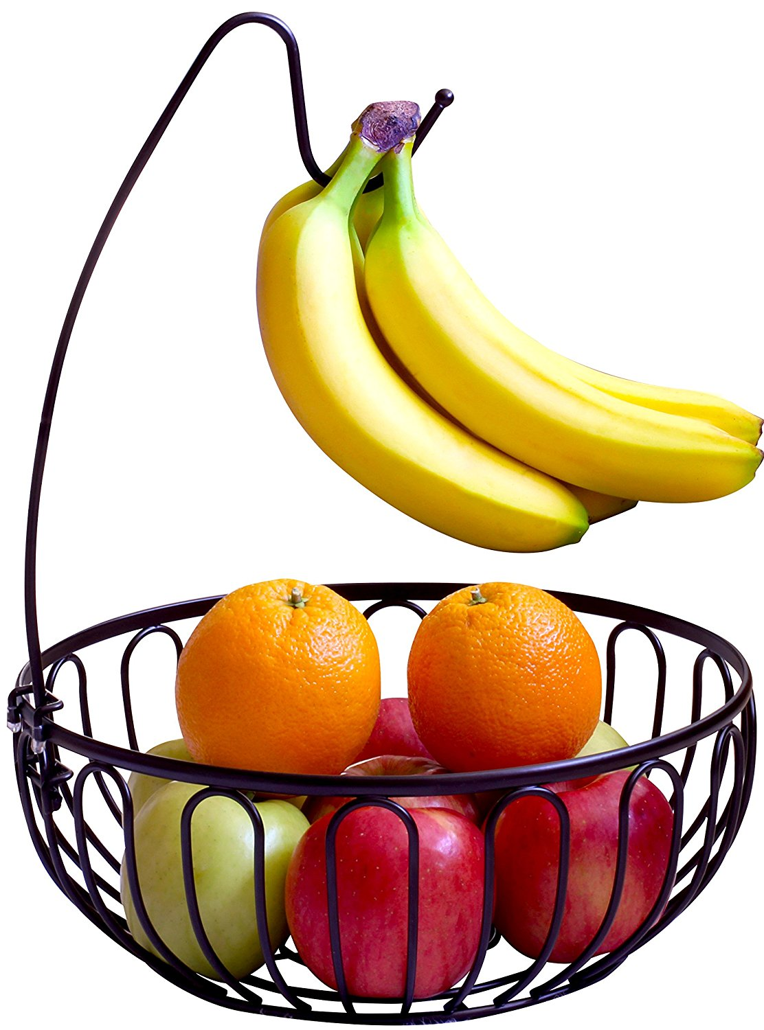 1112x1500 Decobros Wire Fruit Tree Bowl With Banana Hanger