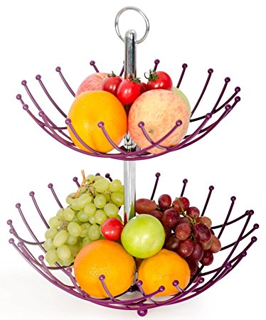 374x450 Fruit Basket Stand By Luxe Premium (Purple)