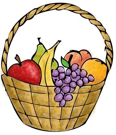 385x450 Fruit Basket Clipart 101 Clip Art