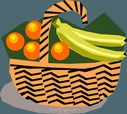 480x433 Fruit Basket Royalty Free Vector Clip Art Illustration Food0598