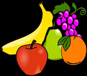 300x261 Fruit Basket Clipart Kid