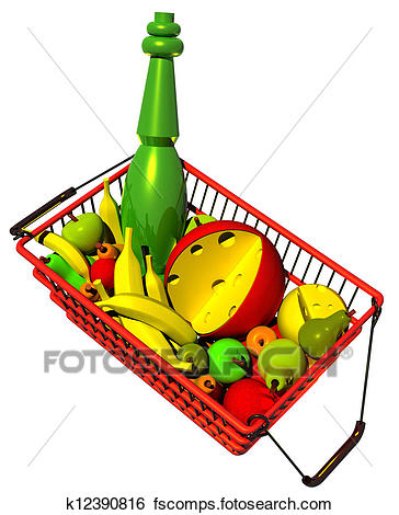364x470 Stock Illustration Of Market Basket Full Of Fruits K12390816