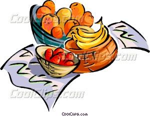 300x232 Fruit Basket Vector Clip Art