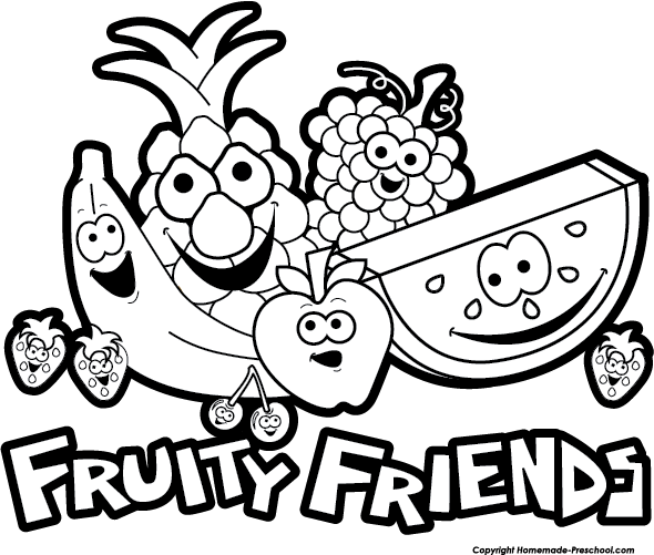 590x501 Fruit Black And White Free Fruit Clipart