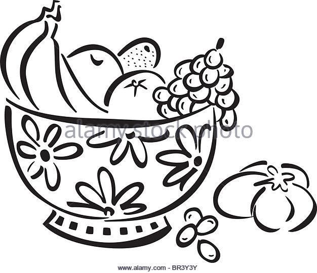 626x540 Grapes Fruit Illustration Fresh Black And White Stock Photos