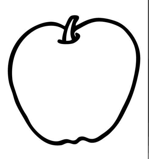 490x524 Apple Black White Apple Black And White Apple Clipart Fruit