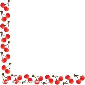 300x300 Clip Art Of A Decorative Cherry Border