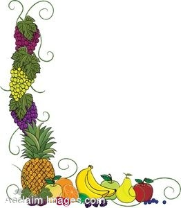 262x300 Clip Art Of A Page Border Made Up Of Various Fruits