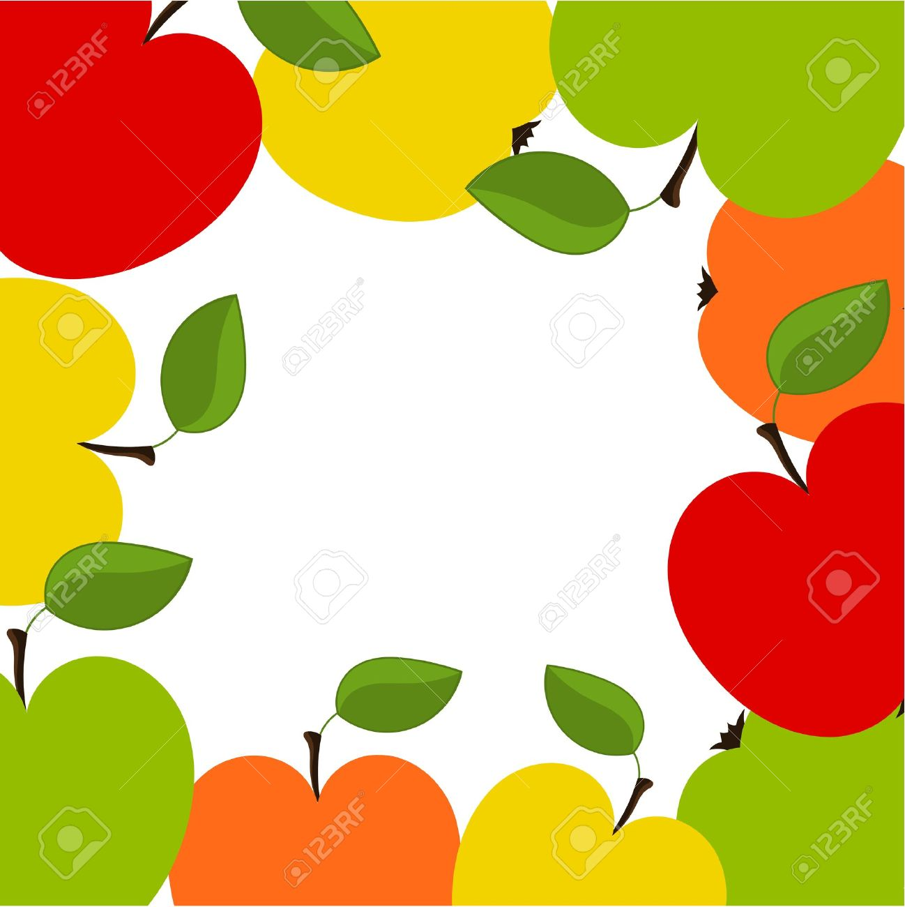 1298x1300 Frame Clipart Apple