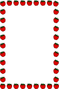 201x300 Strawberry Border Clip Art