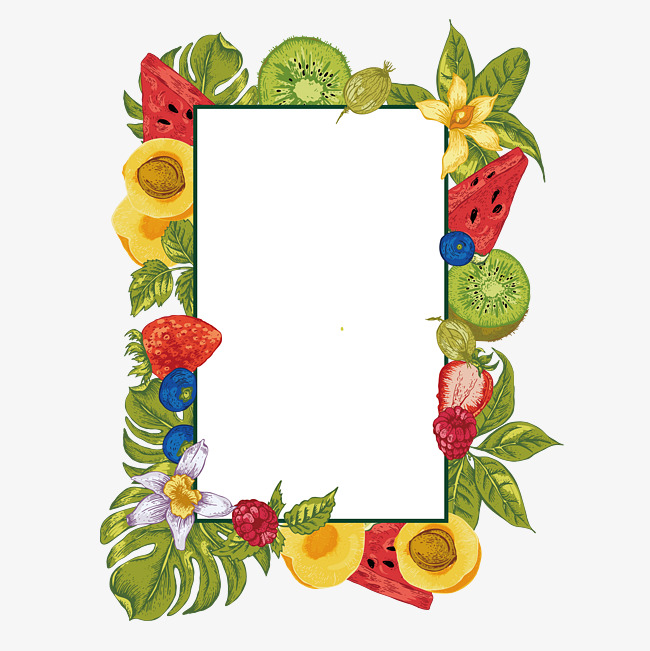 650x651 Fruit Border Vector Material, Summer Border, Fruit Borders, Hand