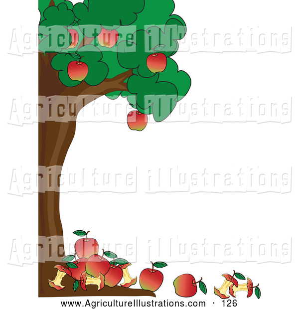600x620 Apple Orchard Border Clipart