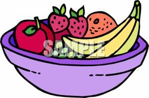 300x198 Bowl Of Fruit Clip Art Image