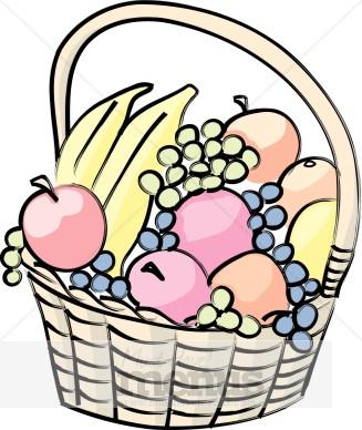 327x388 Fruit Basket Clipart